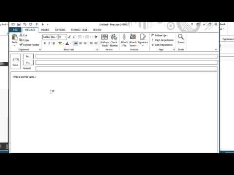 How Do I Make a Microsoft Outlook Smiley Face Using the Control Butto... : Microsoft Office Lessons