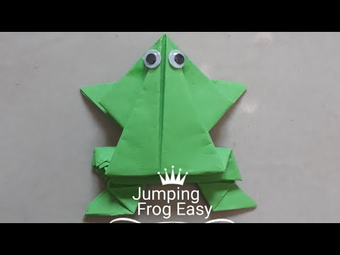 Origami jumping frog (how to make paper frog?)