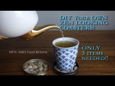DIY Home Decor : Zen Style Coasters
