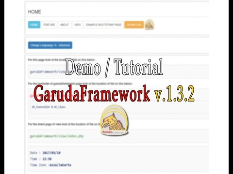 Demo / Tutorial GarudaFramework v.1.3.2     Framework PHP
