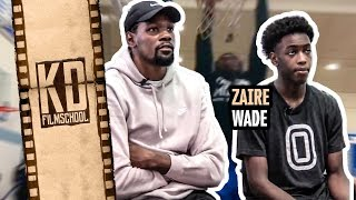 "Kevin Durant Gives Zaire Wade The SECRETS! ""At The End OF The Day, You Gotta STRAP UP!"""