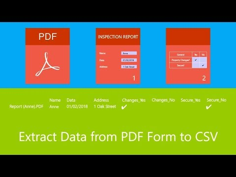 Extract Data from PDF Form to CSV on Mac