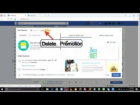 How To Delete or pause Facebook Ads Campaign and refund your budget. EASY WAY....