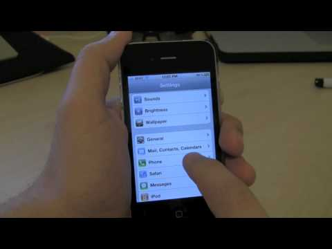 How to Enable FaceTime on the iPhone 4