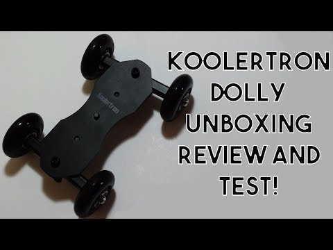 Cheapest Camera Dolly for 25£?? Koolertron Camera Dolly Unboxing, Review and Test!