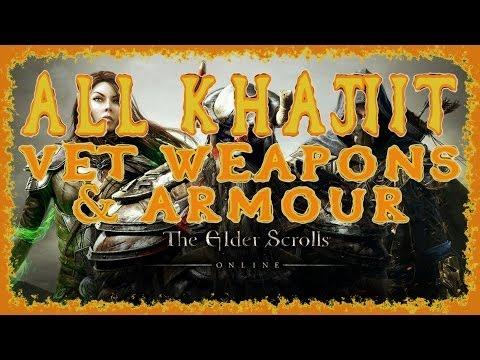 Elder Scrolls Online | All Khajiit Veteran Weapons & Armour | Light Medium Heavy | Melee Bow Staff