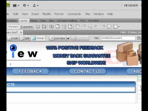How To Create Ebay Store - Finishng Layout - Lesson6