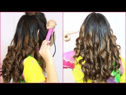 बालों को CURL करने का कौन सा तरीका सबसे अच्छा है ? How To Curl Using Hair Straightener | Anaysa