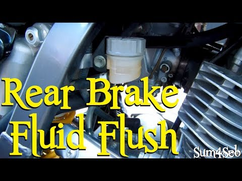 How to do a rear brake fluid flush |¦| Sum4Seb Motorcycle Video