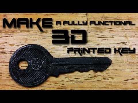 How to make a 3D printed key