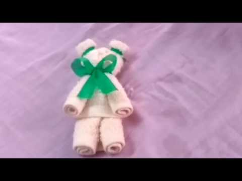 How to make a teddy bear using a towel(How to Make Teddy Bear) : Towel Art Origami