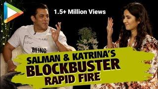 LAUGH RIOT: Salman Khan-Katrina Kaif's MOST HILARIOUS Rapid Fire | SRK | Aamir | Bharat