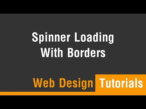 Arabic Tutorials - Create Spinner Loading With Borders