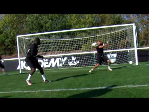 Soccer shooting exercise | Shots and blocks drill | Nike Academy