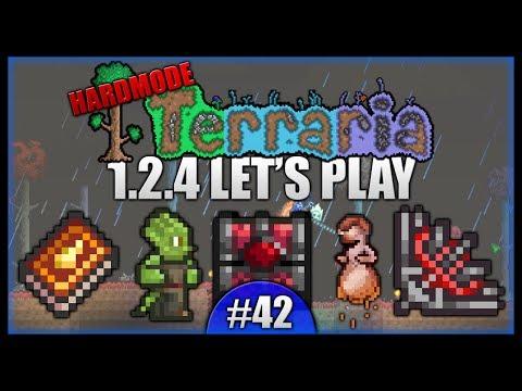 Crimson Chest! Vampire Knives! Golden Shower! || Let's Play Terraria 1.2.4 [Episode 42]