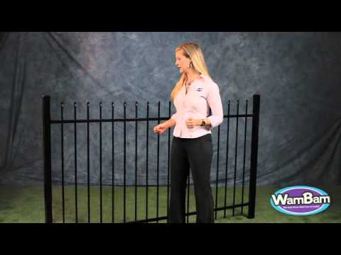 WamBam Fence's No Way Jose Ornamental Aluminum Fence