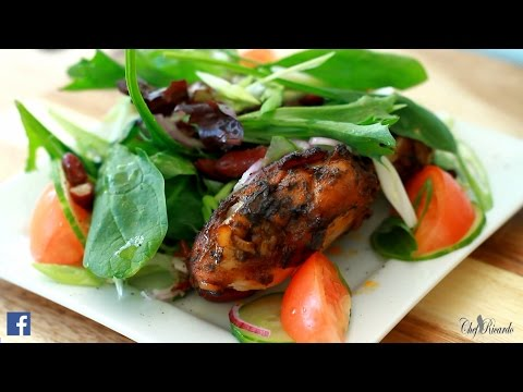 JERK CHICKEN SALAD Best Jerk Chicken Salad ...Chef Ricardo Salad Bar
