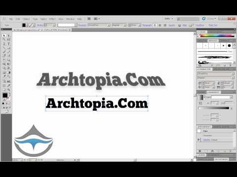 Tutorial Illustrator - Skew Text in Illustrator CS5 - Free Short Tutorial