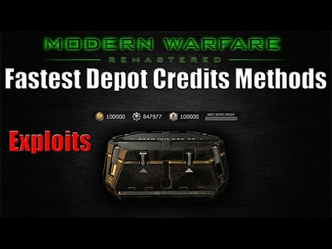 Call Of Duty Modern Warfare Remastered - Fast Easy Depot Credits (Easy Credits Exploits / Glitches)