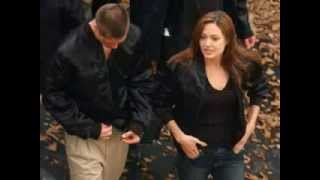 Mr and Mrs Smith on set photos