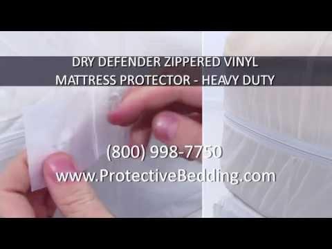 Dry Defender Zippered Vinyl Mattress Protector Heavy Duty