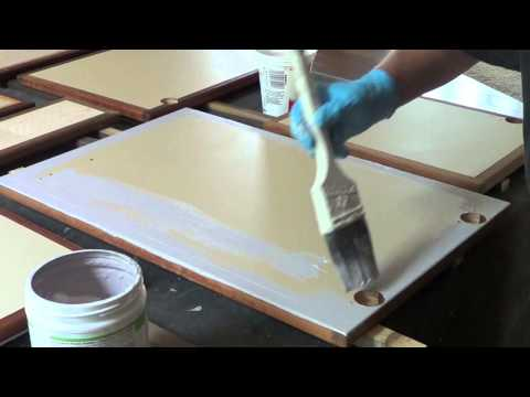 How to use Chalk Paint on Cabinet Faces