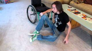 paraplegic  transfers from floor to chair