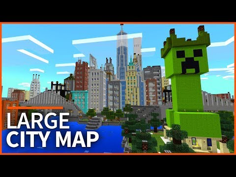 Minecraft PE Maps - MINE YORK CITY - Huge City Map Tour & Download - MCPE 1.2