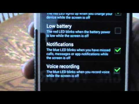 Stop LED Light From Flashing on Samsung Galaxy S4
