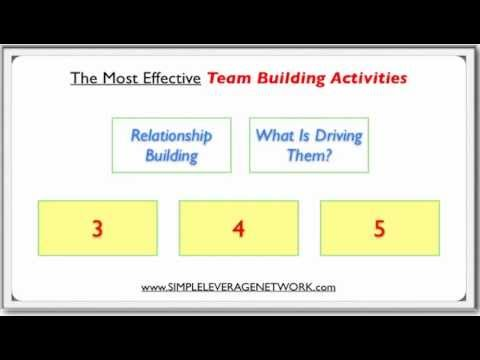 The Most Effective Team Building Activities (Network Marketing and Internet Marketing)