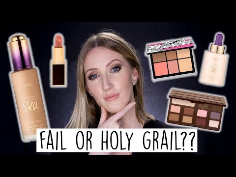 FAIL OR HOLY GRAIL? Full Face Of First Impressions & Wear Test | TARTE SMASHBOX TOO FACED TOM FORD