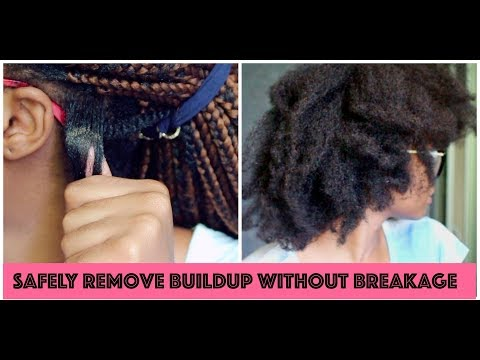 HOW TO TAKE DOWN BRAIDS/TWISTS WITH NO BREAKAGE