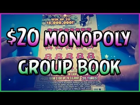 $20 MONOPOLY GROUP BOOK!! 💰 Florida Lottery Scratchers
