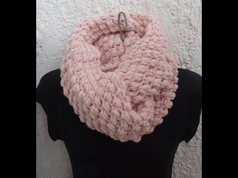 Crochet Pattern* CROCHET INFINITY SCARF *EASY PATTERN