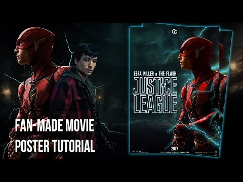 How To Create Fan-Made Movie Posters on Photoshop (Basic Manipulation)│The Flash