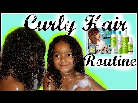 CURLY HAIR ROUTINE FOR MIX KIDS || USING DEVA CURL & RICITOS DE ORO