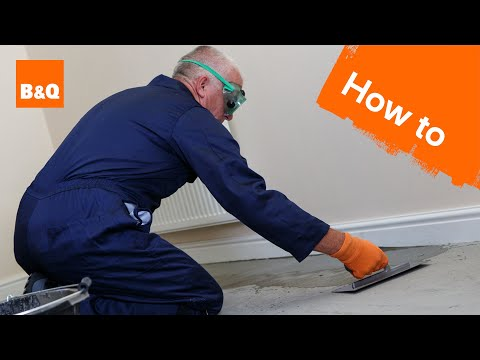 How to level a concrete floor part 2: levelling