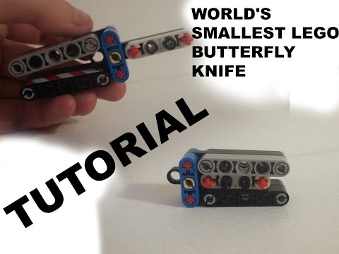How to make the world's smallest LEGO butterfly knife *LEGO Butterfly knife TUTORIAL