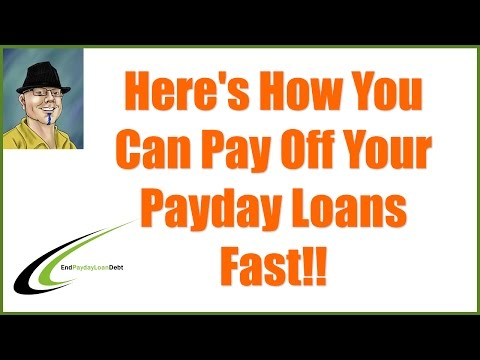 Pay Off Payday Loans Fast