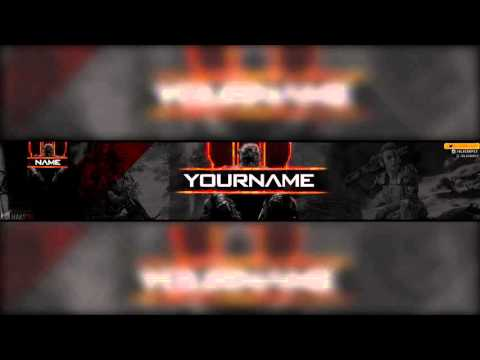 Free Call of Duty Black Ops 3 YouTube Banner & Avatar Template PSD Photoshop CS6