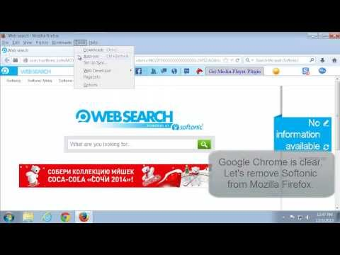 How to remove (delete) Softonic Websearch (Internet Explorer, Mozilla Firefox, Google Chrome))