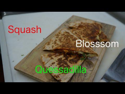 How to make a squash blossom quessadilla