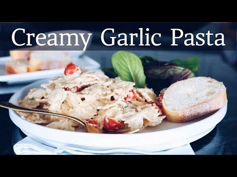 Dairy-Free Creamy Garlic Pasta