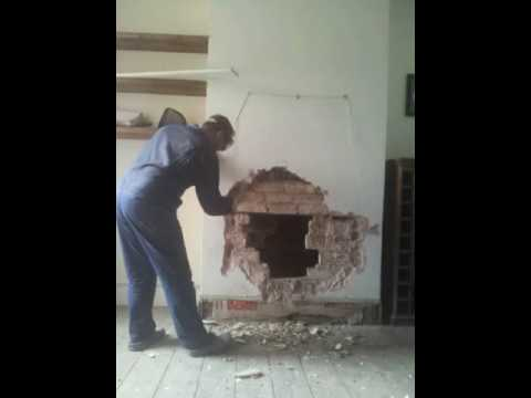 Fireplace reveal in Victorian dining room