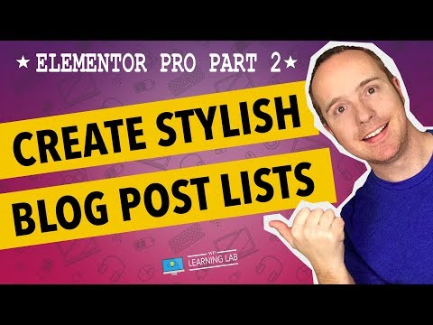 Elementor Pro Part 2 - Elementor Post Widget