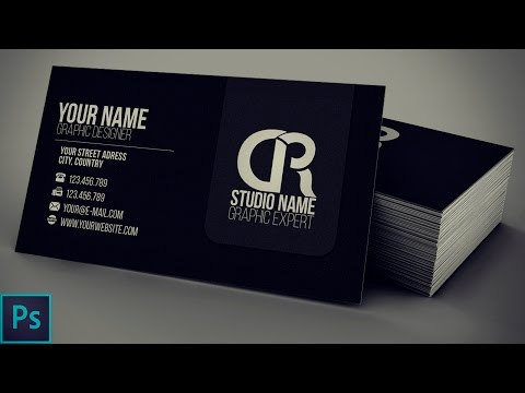 Modern Black Business Card + PSD — Photoshop Tutorial