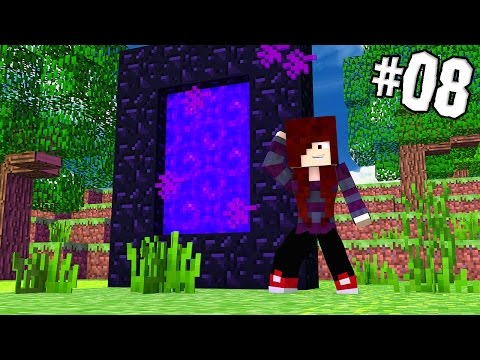 MINECRAFT POCKET EDITION 0.16.0 SURVIVAL - PORTAL PARA O NETHER E MESA DE ENCANTAMENTO! Ep 08