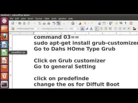 Grub customizer for ubuntu 12.04