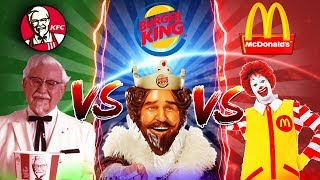 Minecraft FASTFOOD VS CHALLENGE - MCDONALDS VS BURGER KING VS KFC - WHAT IS YOUR FAVOURITE FAST FOOD