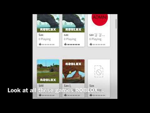 """How To Find """"sax"""" Games On ROBLOX"""